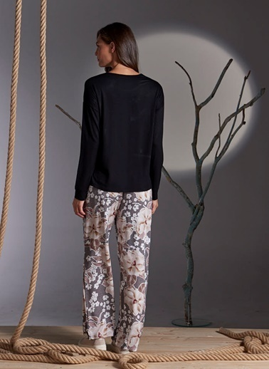 Gizzey Pijama Takım Siyah